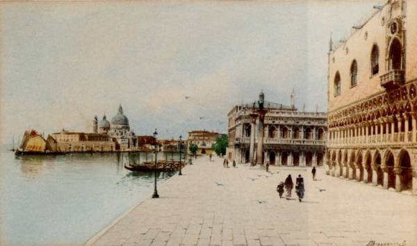 A Stroll In Front Of The Doges Palace